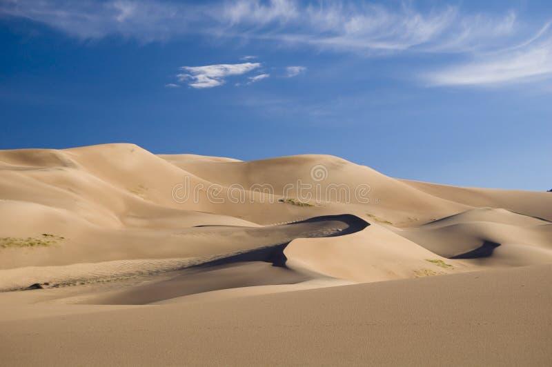Große Sanddünen lizenzfreie stockbilder