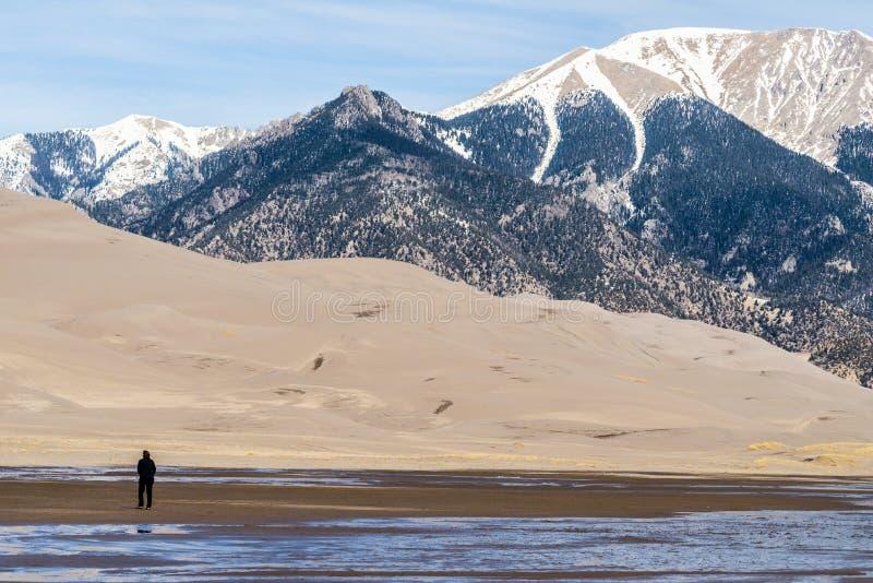 Große Sanddünen Colorado lizenzfreies stockbild