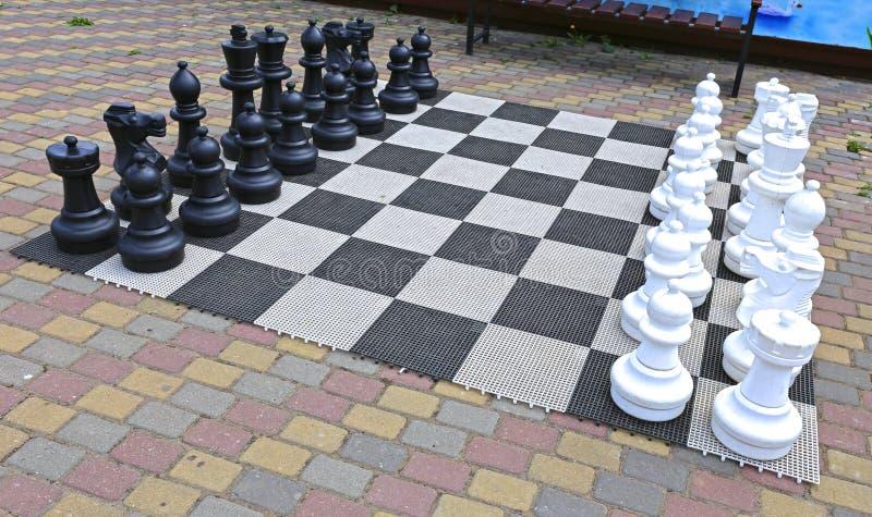 Große Schachfiguren im Park lizenzfreie stockfotografie
