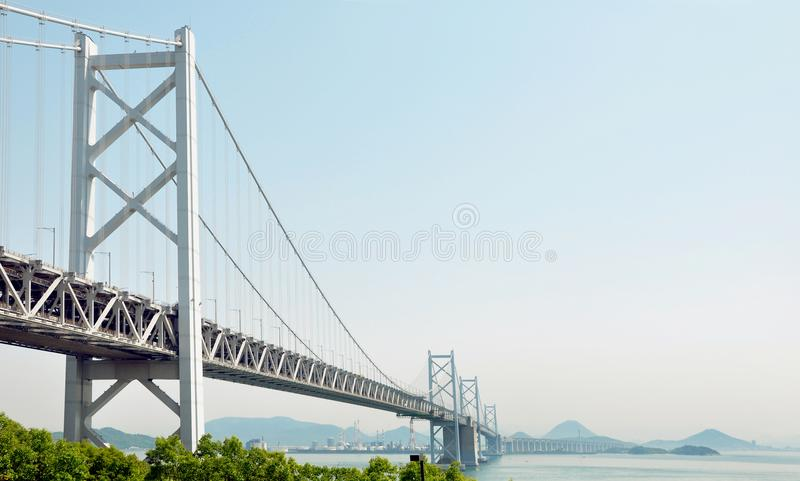 Große Seto-Brücke, zwischen Shikoku und Honshu Japan stockfoto