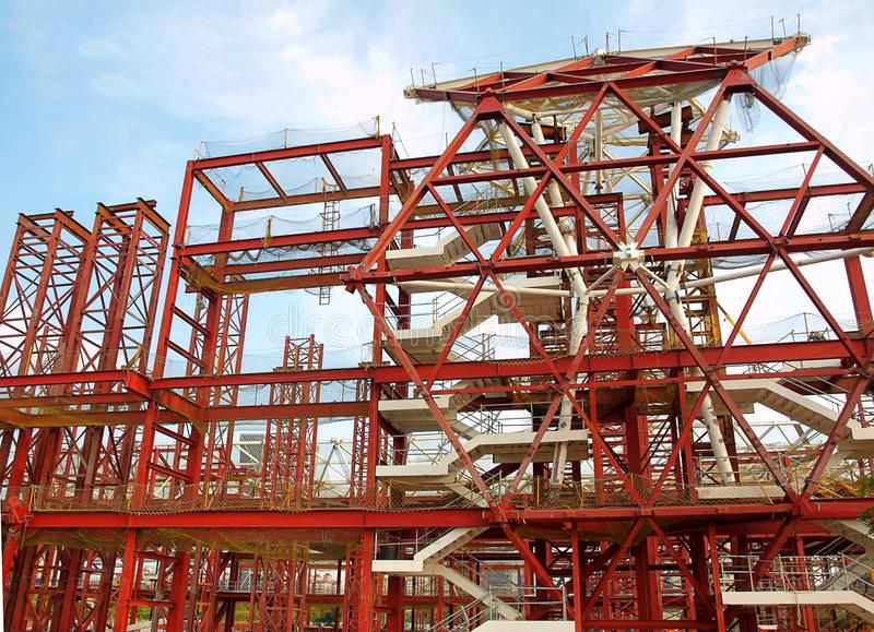 Große Skala-Bauvorhaben lizenzfreies stockfoto