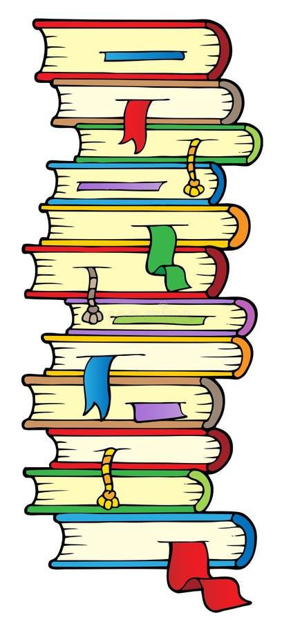 Große Spalte der Bücher stock abbildung