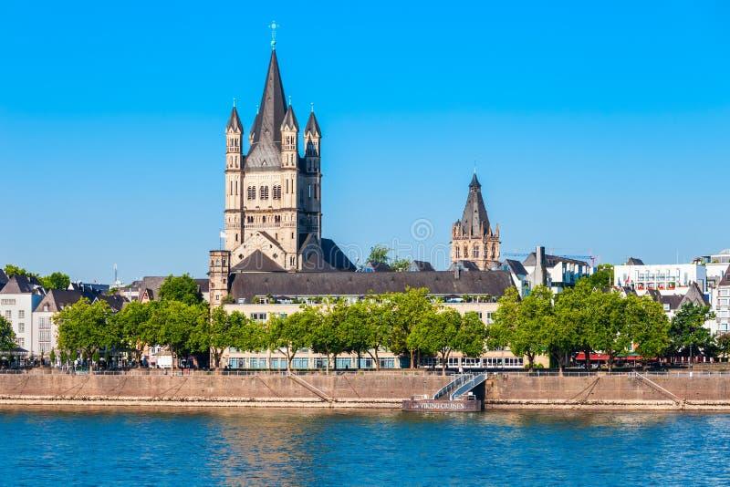 Große St- Martinkirche, Cologne stockfotografie