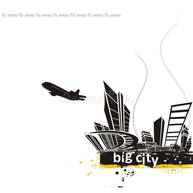 Große Stadt vektor abbildung