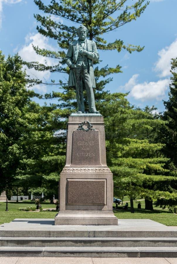 Große Statue von Ulysses Grant im Galena stockbild