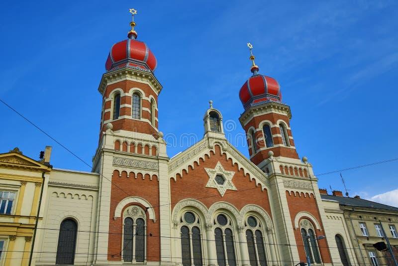 Große Synagoge, Od-Architektur, Pilsen, Tschechische Republik lizenzfreie stockfotos