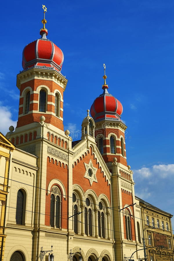Große Synagoge, Od-Architektur, Pilsen, Tschechische Republik stockbilder