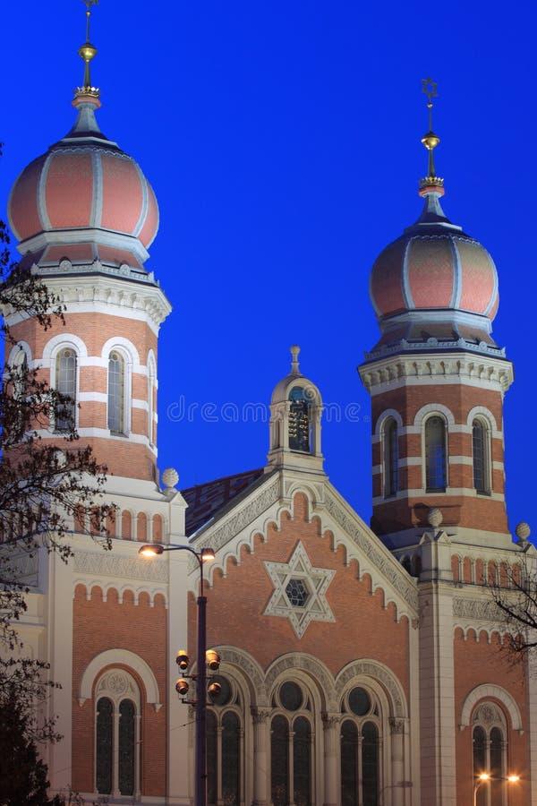 Große Synagoge in Pilsen stockfoto
