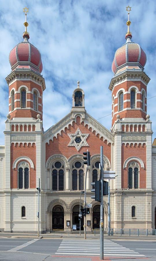 Große Synagoge in Plzen lizenzfreie stockfotografie