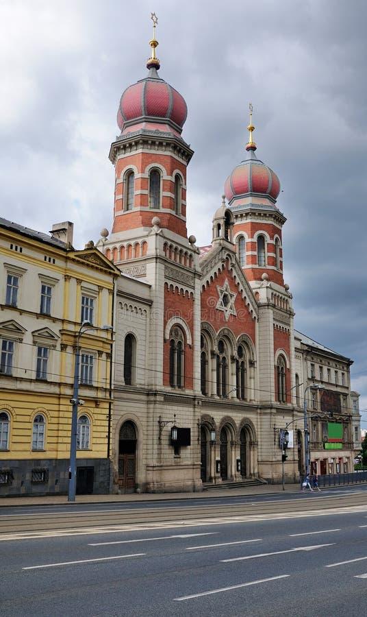 Große Synagoge von Plzen lizenzfreies stockfoto