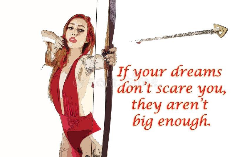 Große Träume Bowyer Girl lizenzfreies stockbild