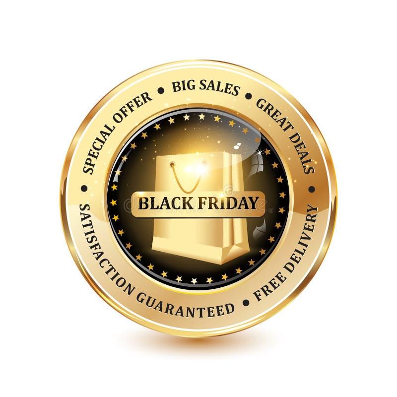 Große Verkäufe Black Fridays stock abbildung