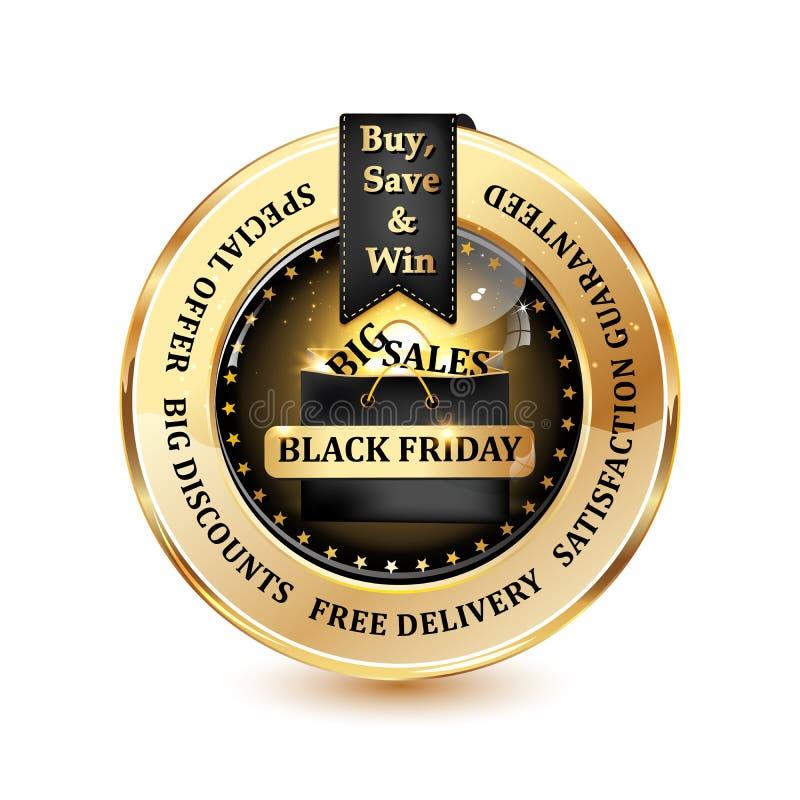 Große Verkäufe Black Fridays lizenzfreie abbildung
