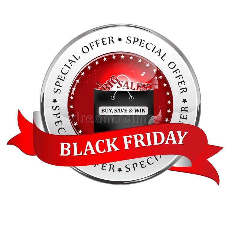 Große Verkäufe Black Fridays vektor abbildung