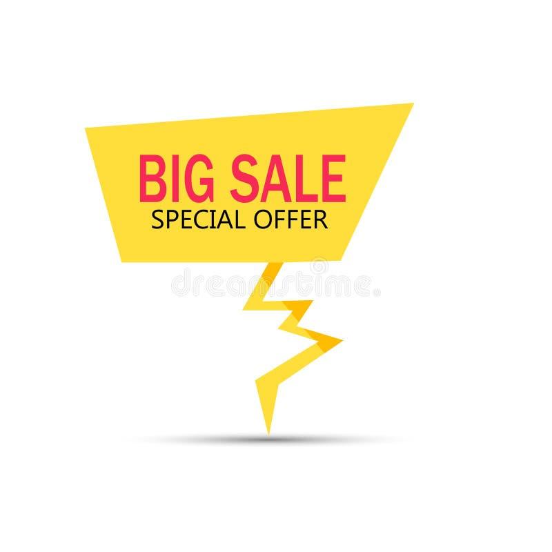 Große Verkaufsfahne, bestes Angebot lizenzfreie stockfotografie