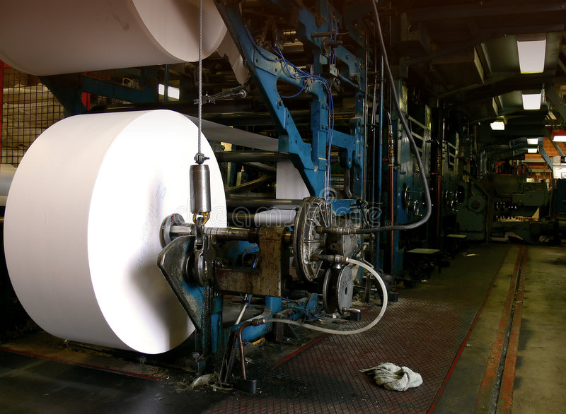 Große Versatz-Druck-Maschine stockfotografie