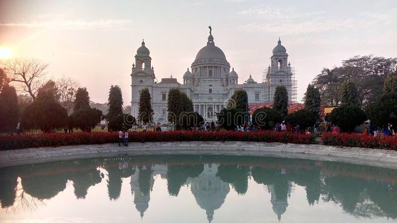 Große Victoria Memorial von Kolkotta, Indien lizenzfreies stockfoto