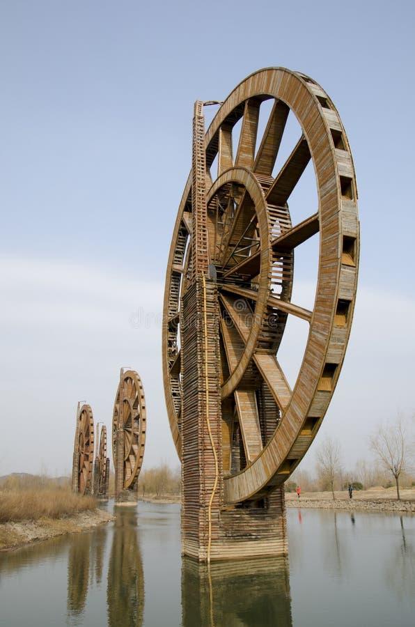 Große Wasser-Räder stockfotos