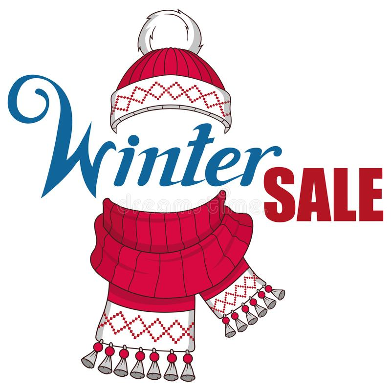 Große Winterschlussverkauffahne, mit Gestaltungselementen des neuen Jahres oder des Weihnachten Weihnachtseinkaufen, Idee für Ihr vektor abbildung