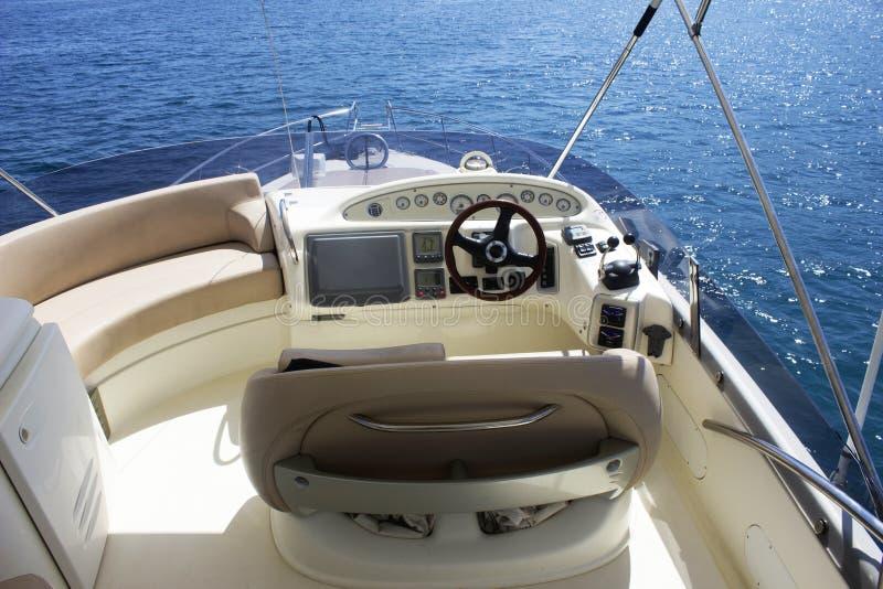 große Yachtluxusdetails stockfoto