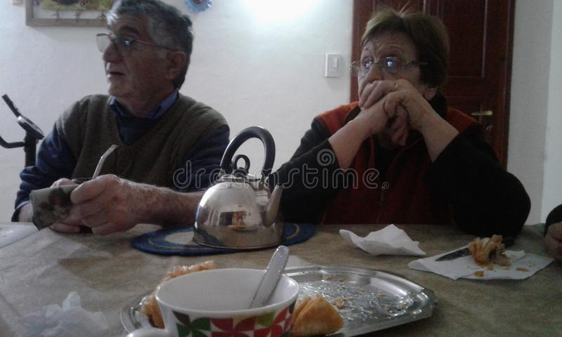 Großelterntradition stockbild
