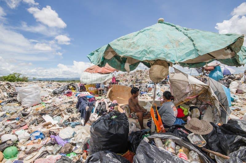 Großer Abfallhaufen lizenzfreies stockbild