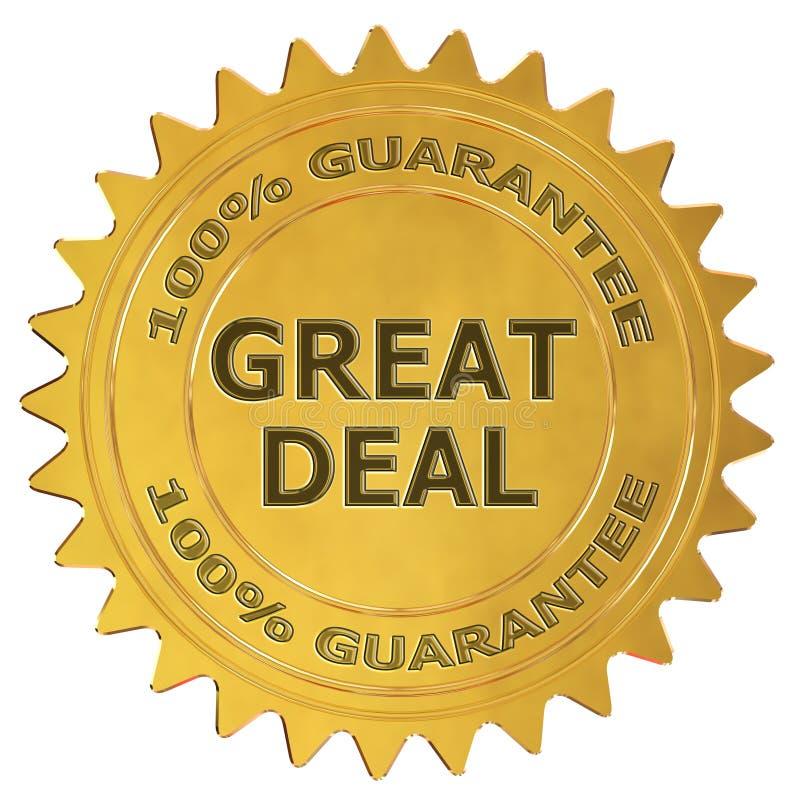 Großer Abkommengarantieaufkleber lizenzfreie abbildung
