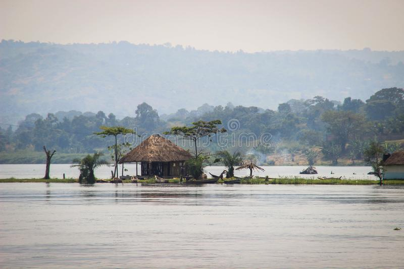 Großer afrikanischer Riss in Uganda stockbild
