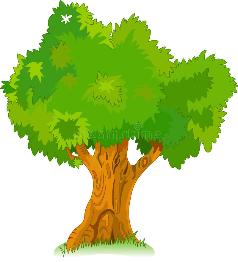 Großer alter Baum für Ihre Auslegung lizenzfreie abbildung