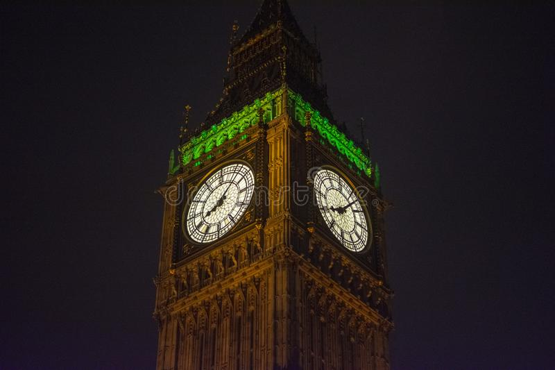Gro?er Ben Tower Clock in London, England, Gro?britannien nachts stockfoto