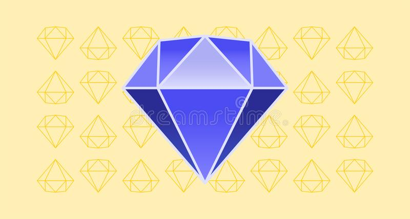 Großer blauer Diamant stockfotografie