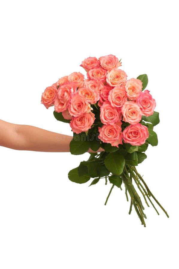 Großer Blumenstrauß der Rosen lizenzfreies stockbild