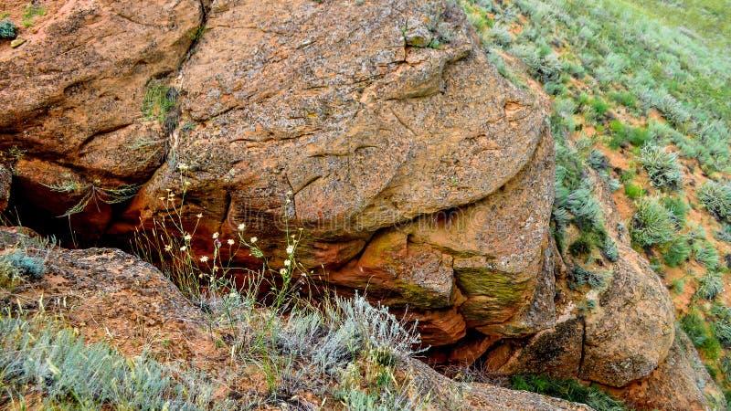 Großer Bogdo Berg Russland astrakhan stockfotos