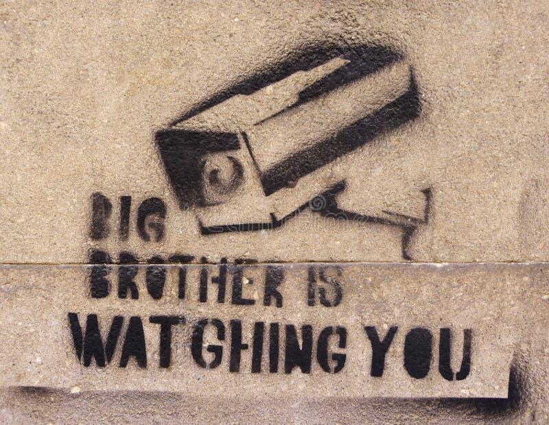 Großer Bruder überwacht stockbild