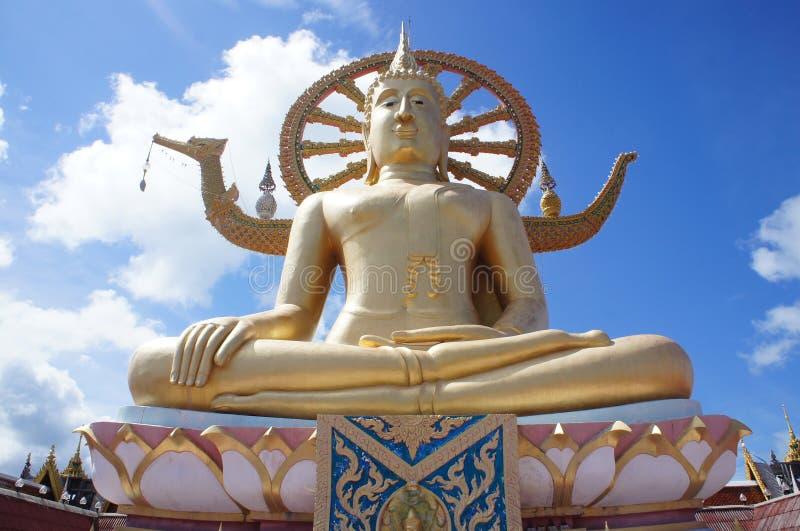 Großer Buddha bei Wat Phra Yai Temple in Koh Samui, Thailand stockbilder