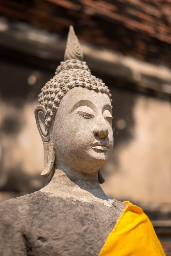 Großer Buddha-Kopfschlaf auf im Freien lizenzfreie stockbilder