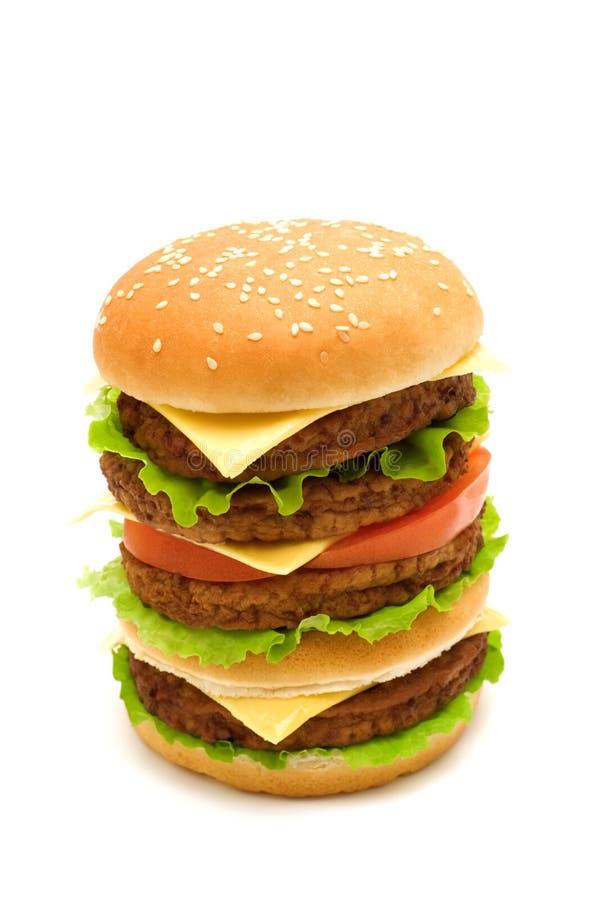 Großer Burger stockfotografie