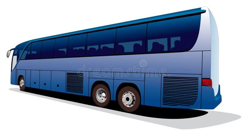 Großer Bus des Touristen lizenzfreie abbildung
