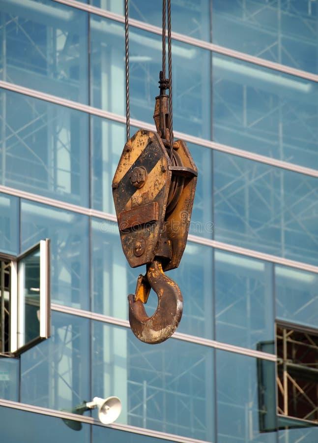 Großer Crane Hook lizenzfreies stockfoto