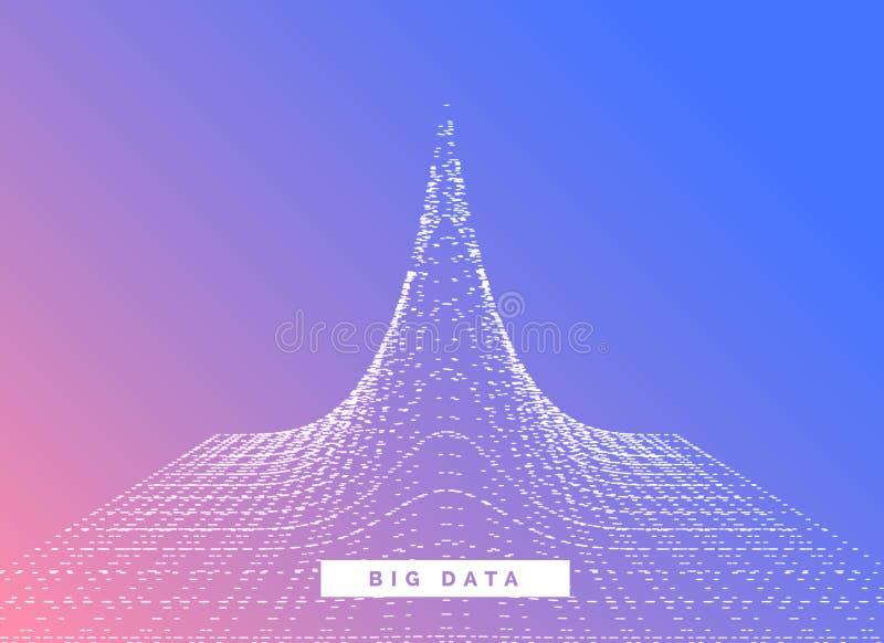Großer Datensichtbarmachungs-Konzeptdesign-Vektorhintergrund stock abbildung