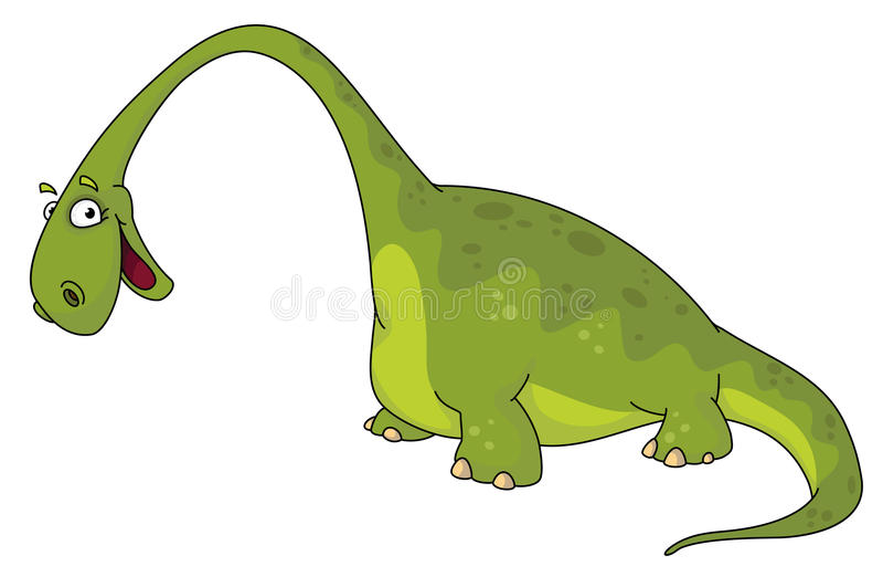 Großer Dinosaurier lizenzfreie abbildung