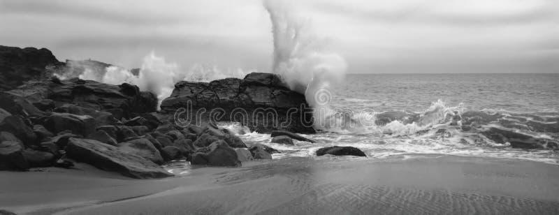 Großer Felsen, Malibu stockbilder