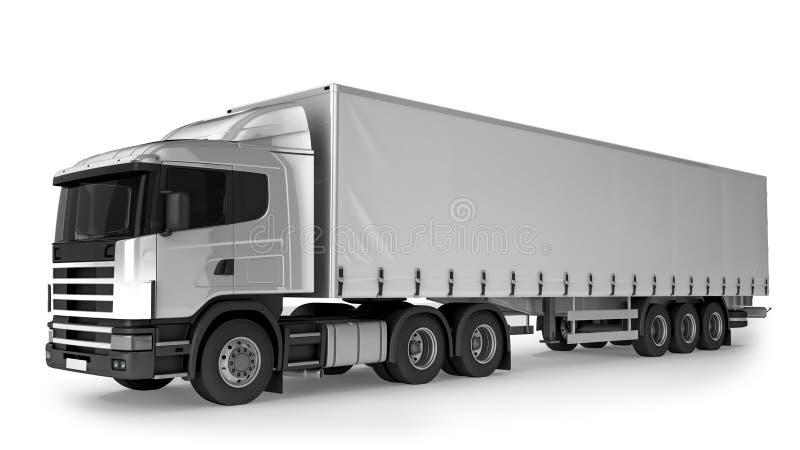 Großer Fracht-LKW auf weißem Hintergrund vektor abbildung
