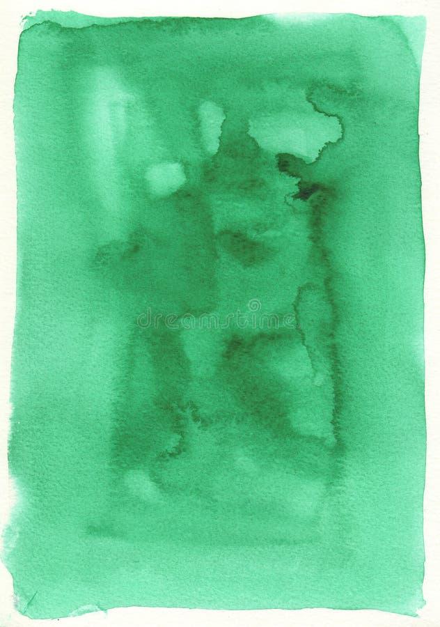 Großer grüner Aquarellhintergrund vektor abbildung