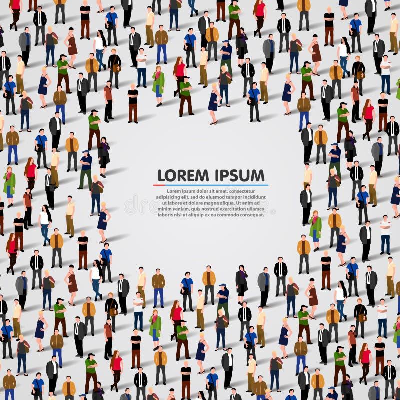 Großer Gruppe von Personenen-Hintergrund stockfotos