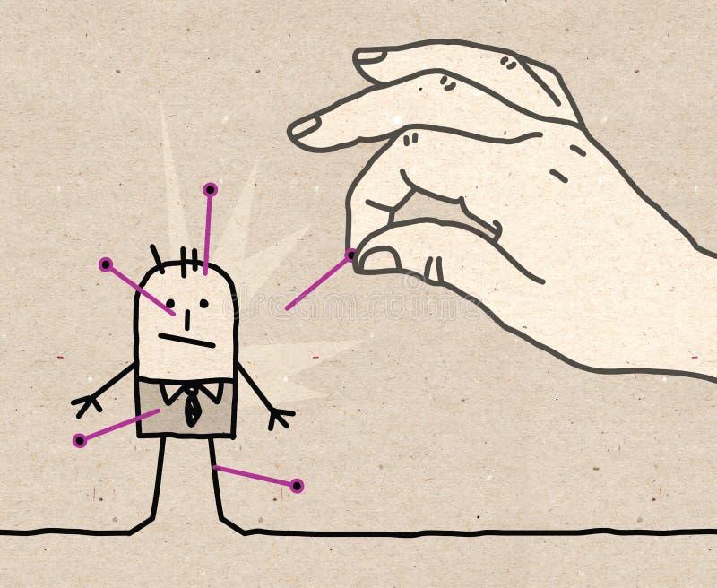 Großer hand- Wodu vektor abbildung