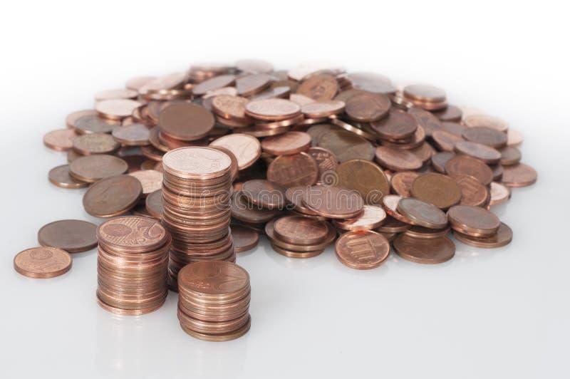 Großer Haufen von Euromünzen lizenzfreie stockfotografie
