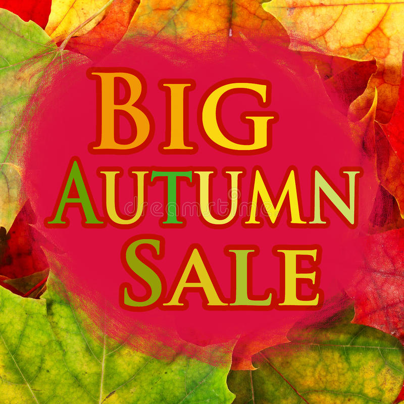 Großer Herbstverkauf lizenzfreie abbildung