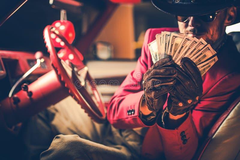 Gro?er Kasino-Cowboy Winner stockbild