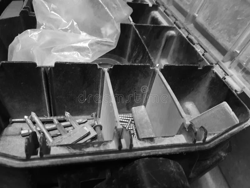 Großer Kasten für errichtende Berufswerkzeuge stockfotografie